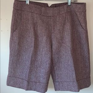 UO | Lux 90's wool mix heather red shorts